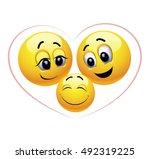 enjoying parenting. happy child.... | Shutterstock .eps vector #492319225