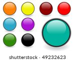 set of  glossy web buttons   Shutterstock . vector #49232623