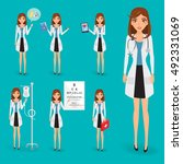 doctor occupation character... | Shutterstock .eps vector #492331069