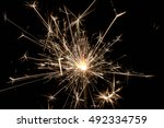 christmas fire sparks.photo | Shutterstock . vector #492334759
