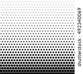 circle halftone element ... | Shutterstock .eps vector #492340069
