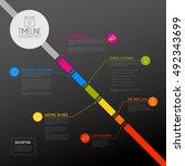 vector infographic diagonal... | Shutterstock .eps vector #492343699