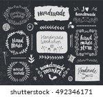 vector set of hand drawn doodle ... | Shutterstock .eps vector #492346171