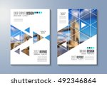 brochure template  flyer design ... | Shutterstock .eps vector #492346864