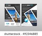 brochure template  flyer design ... | Shutterstock .eps vector #492346885