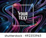 background with colorful mixing ... | Shutterstock .eps vector #492353965