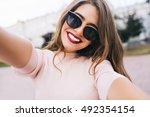 Closeup Selfie Portrait Student ...