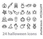 twentyfour halloween icons...   Shutterstock .eps vector #492361699