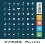business and office icon set... | Shutterstock .eps vector #492362761