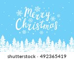 greeting card with sketches of... | Shutterstock .eps vector #492365419
