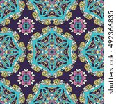 abstract seamless patchwork...   Shutterstock . vector #492366835
