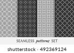 seamless geometric line... | Shutterstock .eps vector #492369124