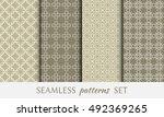seamless geometric line...   Shutterstock .eps vector #492369265
