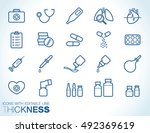 medical line icons set | Shutterstock .eps vector #492369619