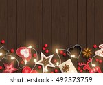 christmas background  small... | Shutterstock .eps vector #492373759
