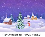vector cartoon illustration of... | Shutterstock .eps vector #492374569