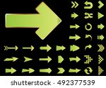 arrow vector 3d button icon set ... | Shutterstock .eps vector #492377539