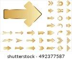 arrow vector 3d button icon set ... | Shutterstock .eps vector #492377587