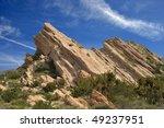 uplifted rock slabs in vasquez...   Shutterstock . vector #49237951