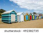 beautiful bathing houses on... | Shutterstock . vector #492382735
