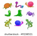 bright child toys on the white... | Shutterstock . vector #49238521