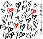 love vector pattern | Shutterstock .eps vector #492385609