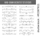 set of cute vector swirl... | Shutterstock .eps vector #492387811