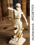 statue of lady justice  law...   Shutterstock . vector #492387955