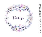 watercolor floral boho  flower... | Shutterstock . vector #492389167