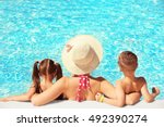mother with children in... | Shutterstock . vector #492390274