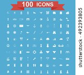 100 icon set. concept... | Shutterstock . vector #492393805