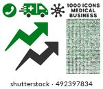 trends icon with 1000 medical... | Shutterstock .eps vector #492397834