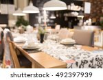 blur dinner table picture... | Shutterstock . vector #492397939