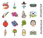 south korea set icons in