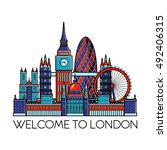 london detailed skyline. travel