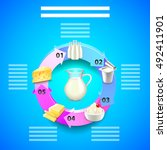 dairy products infographics... | Shutterstock .eps vector #492411901