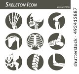 skeleton icon  hand  finger  ... | Shutterstock .eps vector #492413887