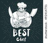Best Chef Logo. Chalkboard ...