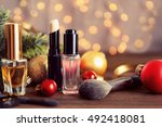 colorful makeup cosmetic with... | Shutterstock . vector #492418081