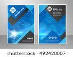 modern annual report  brochure... | Shutterstock .eps vector #492420007