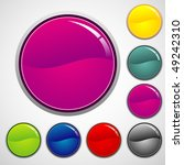 collection of glossy buttons | Shutterstock .eps vector #49242310