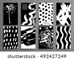 set of black and white design... | Shutterstock .eps vector #492427249