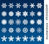 set of vector snowflakes | Shutterstock .eps vector #492432049