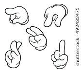 white cartoon hand | Shutterstock .eps vector #492432475