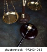 gavel  mallet of justice concept