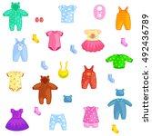 set of children clothes. vector ...