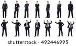 collage of businessman isolated ... | Shutterstock . vector #492446995