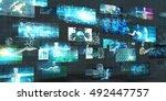 digital marketing platform and... | Shutterstock . vector #492447757