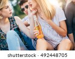 group of friends having fun  | Shutterstock . vector #492448705