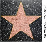 hollywood   june 26  empty star ... | Shutterstock . vector #492450361